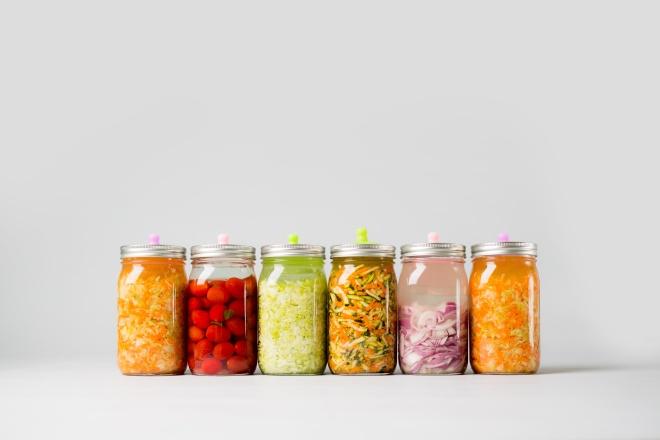 Fermented Vegetables on isolated background